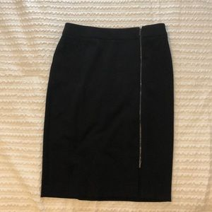 Black skirt with zipper detail